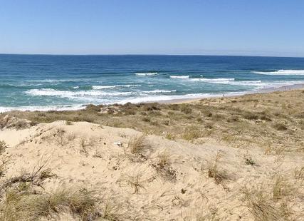 Vue de la plage aquitaine